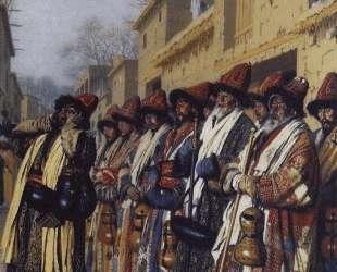 Chorus of Dervishes, begging. Tashkent — Василий Верещагин