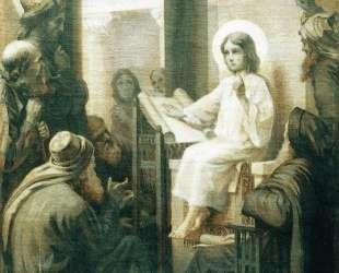 Христос среди учителей — Константин Маковский