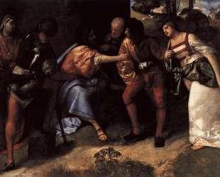 Christ and the Adulteress — Тициан