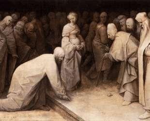 Христос и женщина, уличённая в прелюбодеянии — Питер Брейгель Старший