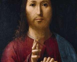 Христос благословляющий — Антонелло да Мессина