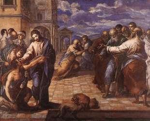 Христос исцеляет слепого — Эль Греко