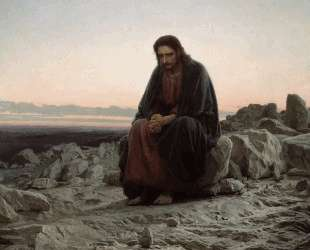 Христос в пустыне — Иван Крамской