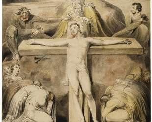 Христос, пригвожденный к кресту. Третий час — Уильям Блейк
