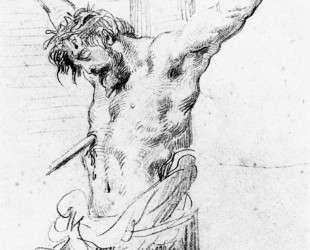 Христос на кресте — Эжен Делакруа