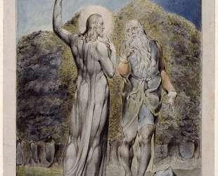 Сатана искушает Христа превратить камни в хлеб — Уильям Блейк