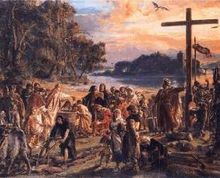 Christianization of Poland A D 965 — Ян Матейко