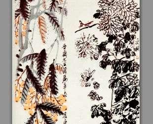 Chrysanthemum and loquat — Ци Байши