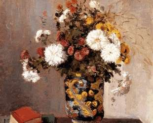 Chrysanthemums In a Chinese Vase — Камиль Писсарро