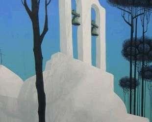 Church Tower Original Painting — Эйвинд Эрл