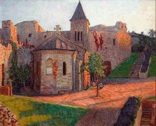 Вид на церковь — Николай Богданов-Бельский