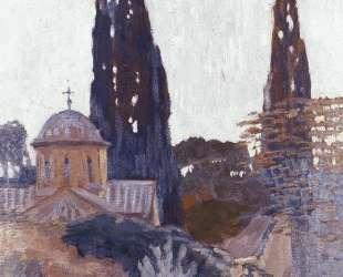 Church with Cypress — Константин Малеас