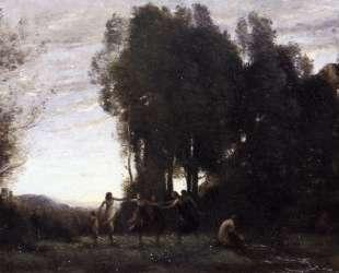 Хоровод нимф, утро — Камиль Коро