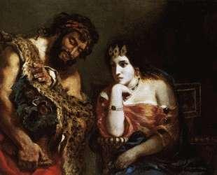 Клеопатра и крестьянин — Эжен Делакруа