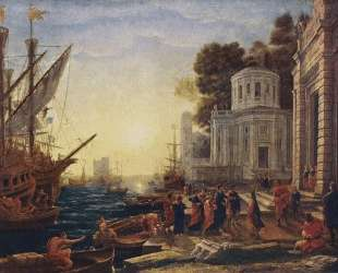 Cleopatra Disembarking at Tarsus — Клод Лоррен