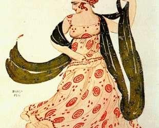 Эскиз костюма к балету 'Клеопатра' — Греческая танцовщица — Леон Бакст