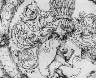 Герб Адельберга III Базлера из Беренфельза, владельца Арисдорфа — Ханс Бальдунг