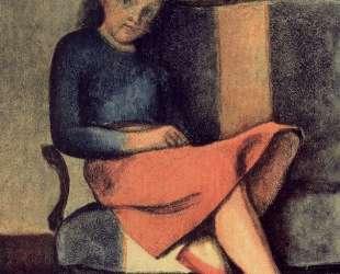 Colette sitting — Бальтюс