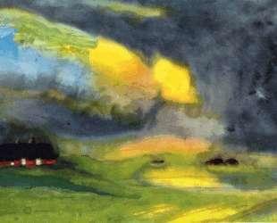 Colored sky above the Marais — Эмиль Нольде