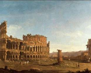 Colosseum and Arch of Constantine (Rome) — Бернардо Беллотто