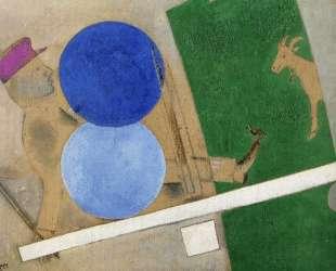 Композиция с кругами и козлом — Марк Шагал