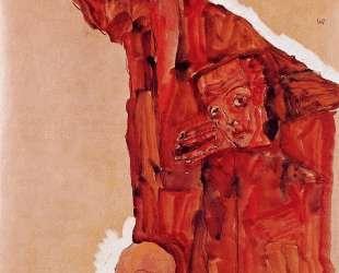 Composition with Three Male Figures (Self Portrait) — Эгон Шиле