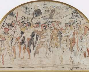 Compositional study to retreat from Marignano — Фердинанд Ходлер