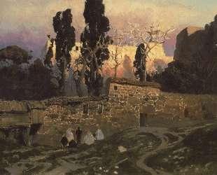 Константинополь (Стамбул). Эски-Сарайский сад. — Василий Поленов