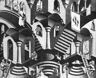 Convex and Concave — Мауриц Корнелис Эшер