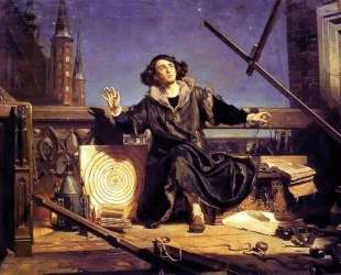Copernicus in the tower at Frombork — Ян Матейко