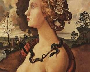 Копия портрета Симонетты Веспуччи работы Пьеро ди Козимо — Константин Сомов