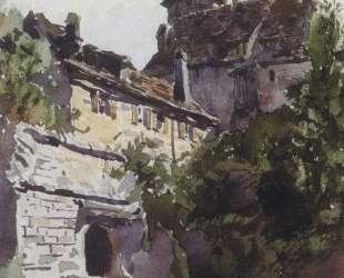 Уголок средневекового города со стеной — Василий Поленов