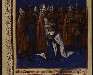 Coronation of Charles VI in 1380 in Reims — Жан Фуке