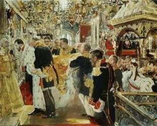 Коронация императора Николая II в Успенском соборе — Валентин Серов