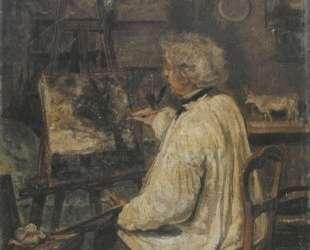 Коро рисует в студии своего друга, художника Константа Дютийе — Камиль Коро