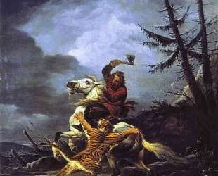 Cossack Fighting off a Tiger — Александр Орловский