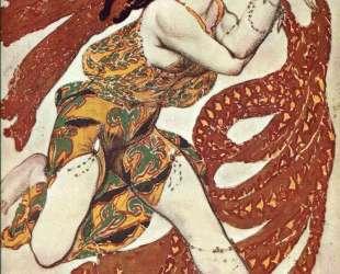 Эскиз костюма к балету «Нарцисс» — Вакханка — Леон Бакст