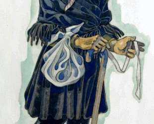 Costume design for an old villager (probably for Balieff theatre) — Сергей Судейкин