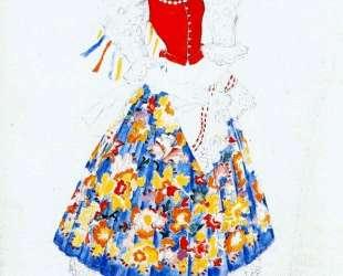 Costume design for bride — Наталья Гончарова