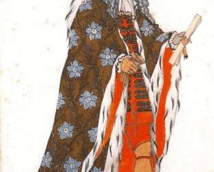 Эскиз костюма к балету 'Спящая красавица' — Церемонимейстр — Леон Бакст