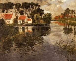 Cottages by a River — Фриц Таулов