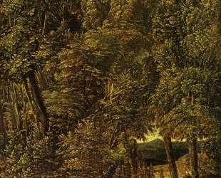 Лесной пейзаж со св. Георгием, поражающим дракона — Альбрехт Альтдорфер