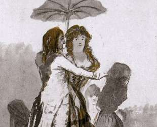 Couple with Parasol on the Paseo — Франсиско де Гойя