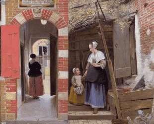 Courtyard of a house in Delft — Питер де Хох