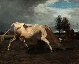 Cow chased by a dog — Констан Труайон