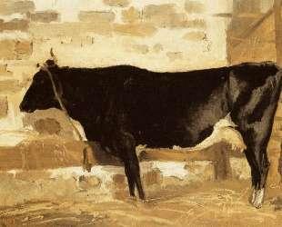 Корова в хлеву (Черная корова) — Камиль Коро