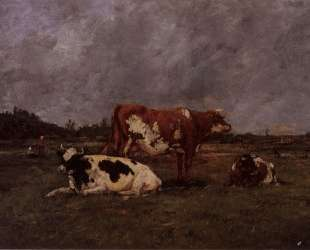 Cows in Pasture — Эжен Буден