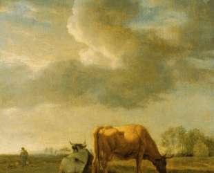 Cows on a Meadow — Адриан ван де Вельде
