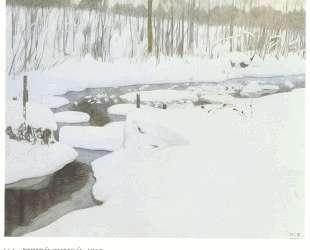 Ручей зимой — Иван Билибин
