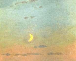 Лунный серп на фоне заката — Архип Куинджи